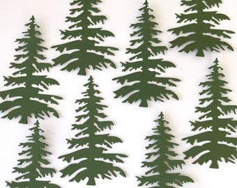Forest Trees  Set of 10