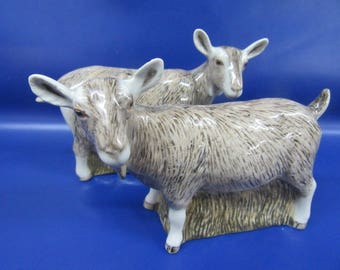 Goat Salt and Pepper Shaker Toggenburg Goat Salt and Pepper Hand Painted Stunning Supplied Gift Boxed