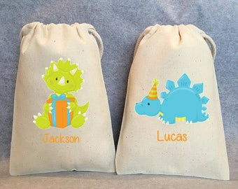 "10- dinosaur party, Dinosaur, Dinosaur birthday, dinosaur bags, dino party, dino birthday, 5""x8"""