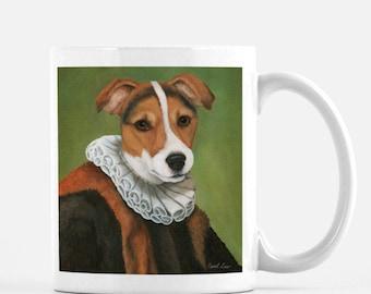 "Jack Russel Gifts, Cute Animal Gift Mug, Funny Dog Coffee Mug, ""Jacques"""