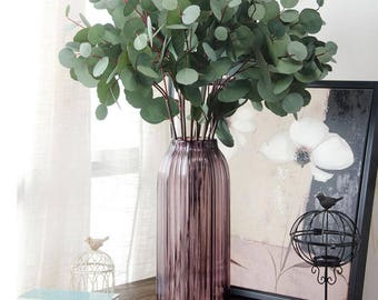 Greenery Artificial Plants Eucalyptus Leaves For Home Decoration Wedding Christmas Holiday Ornament Fake Leaves Plants DIY Floral Material