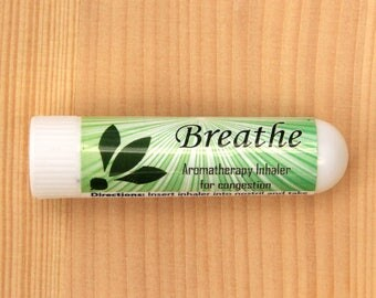 Breathe - Aromatherapy Inhaler - decongestant essential oil inhaler for sinus, colds, and allergies