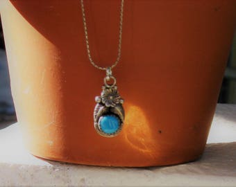 AZ Turquoise Pendant in .925 Sterling Silver Necklace