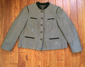 Vintage 80's Bavarian Button up Jacket/Blazer (as-is)