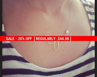 SALE 20% OFF Gold necklace, dainty necklace, statement gold necklace, pearl necklace, impressive necklace, unique necklace,Gift 10006