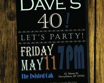 40th Birthday Party Invite