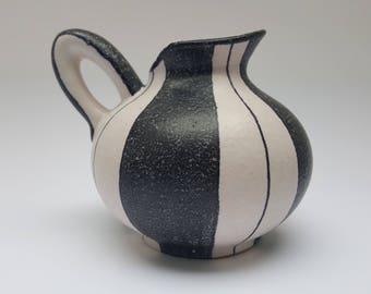 ES-Keramik black & white 1950s vase