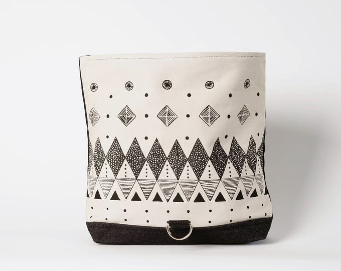 Roll Bag in  Geometric Print