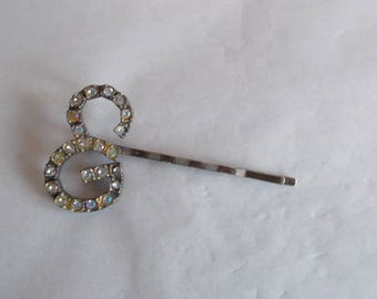 Vintage Small Glass Rhinestone Hair Pin //28