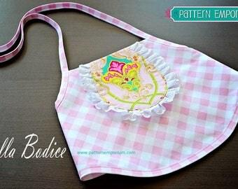 PATTERN : TOP - Bella Bodice - Girls Summer Top  - PDF Sewing Pattern - Instant Download - Pattern Emporium
