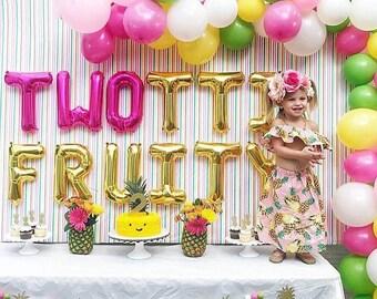 Pineapple + Felt Ball Garland glitter banner Fiesta Summer Party Girls Night Bachelorette Party Pineapple Party Flamingo Party Decor