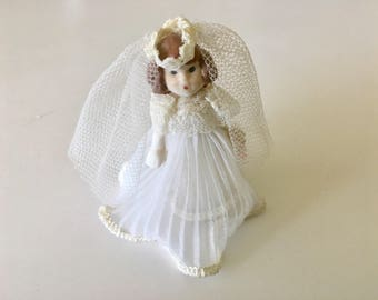 Vintage Miniature Porcelain Doll
