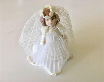 Vintage Miniature Porcelain Doll