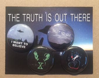 "X-Files 1.25"" Pin Set"