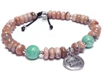 Bracelet made of rhodochrosite Good Luck