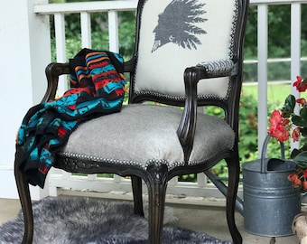 Restored antique arm chair