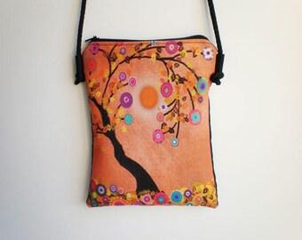 Shoulder bag, crossbody bag, Tree of life bag, printed bag, little bag, Tree of life
