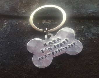 Custom Paw dog collar id tag