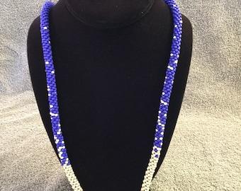 Blue beaded Kumihimo Necklace
