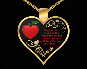 Paraprofessional Necklace - Jewelry SpEd Gifts - Special Needs Autism Teacher Appreciation Gift Ideas (Choice of Metal)