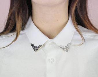 Silver vintage collar clip / collar Customisation / DIY metal tip / mischievous shop