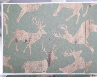 Masculine Card Set - Thank You Card Set - Greeting Card Set - Deer Card Set - Blank Card Set of 6