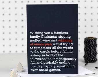 Nibbling At Mince Pies - Christmas Cards