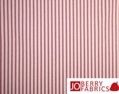Reserve Listing for JAN for 3 Yards of Red and Cream Ticking Fabric