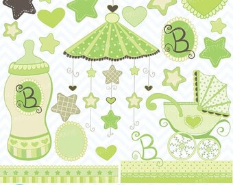 80% OFF SALE Baby clipart commercial use, vector graphics, digital clip art, digital images - CL387
