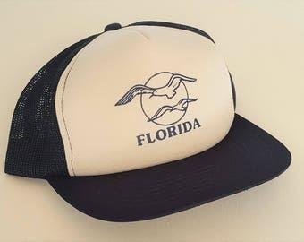 Vintage Florida Trucker Style Snapback Hat VTG