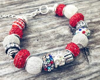 July 4th European Beaded Bracelet - MY LIFE SERIES by Precision Princess