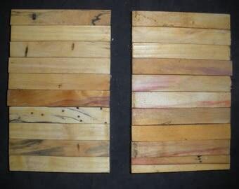 20 Red  BOX ELDER  Turning Wood Pen  Razor Blanks # BE6
