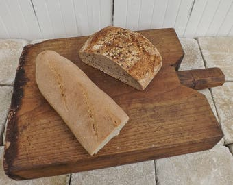 Old French cutting board big authentic vintage chopping board serving platter rustic French kitchenalia French country kitchen