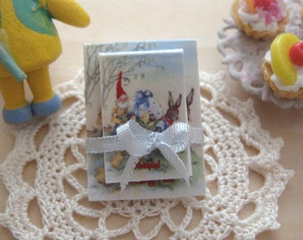 dollhouse easter  writing pad notepad 12th scale miniature