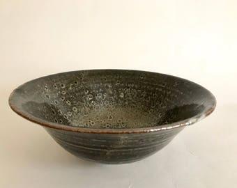 Carbon-Trapped Shino Bowl
