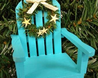 Beach/Adirondack Chair with Starfish Ornament