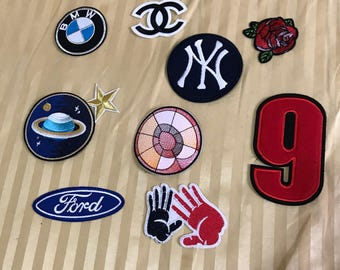 10pc mix Embroidered  Patch