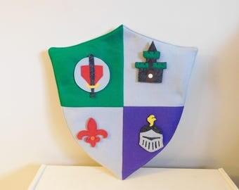 Kids Knight Shield with Snap-on Symbols