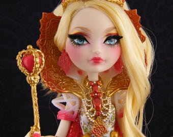 Ever After High Queen Apple White repaint doll