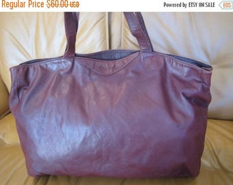 15% SUMMER SALE Distress  american ox blood burgundy shopping tote bag large shopper