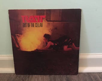 "Ratt ""Out of the Cellar"" vinyl record"