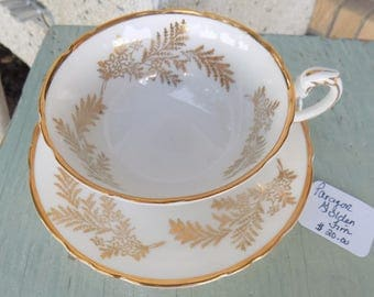 Paragon Golden Firn vintage Tea cup & saucer