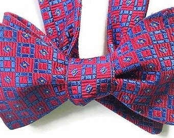 Silk Bow Tie for Men - Estate  - One of-a-Kind, Handtailored - Free Shipping