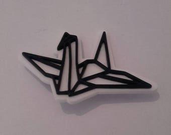 Origami plastic brooch