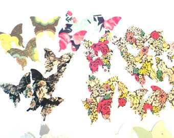 Butterfly Confetti-Set 2//50 pieces//Table Scatter//Pen Pal Swag//Crafting Supplies//Scrapbook Paper Butterflies//Scrapbook Paper Confetti