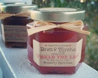 Christmas in July - Sale Mason Jar Favors - Rustic Favors - Jam Wedding Favors - Bridal Shower Favors - Apple Butter  - 50 (4oz) Jam Favors