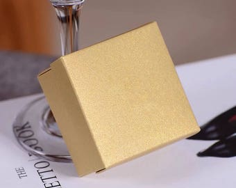 20x Pearl Gold Bomboniere Favour Boxes - Wedding & Party Gift Box - Chocolate Candy Cookie Box - Christmas Gift Box