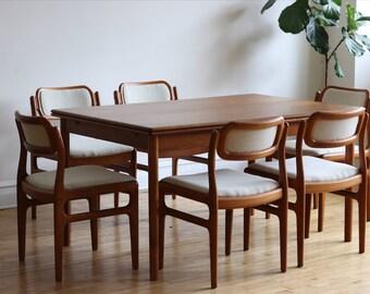 Mid Century Modern Scandinavian Teak Dining Set