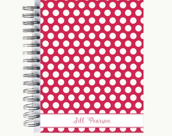 Daily Sidekick Planner – Personalized  | Monthly Calendar | To Do List | Hourly | Organizer | Agenda | Bound | Bold Dot R