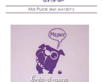 """Sweetie"" dog - Bulldog cross stitch chart"